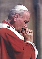 Pope John Paul II In Prayer.jpg